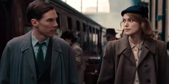 The Imitation Game starring Benedict Cumberbatch and Kiera Knightley.