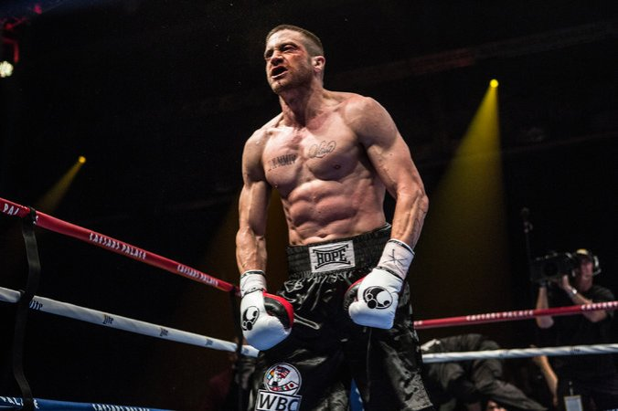 Southpaw starring Jake Gyllenhaal and Rachel McAdams.