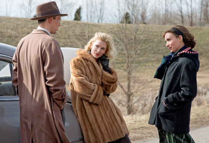 Carol starring Cate Blanchett and Rooney Mara.