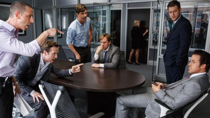 The Big Short starring Christian Bale, Steve Carell, Ryan Gosling, and Brad Pitt.