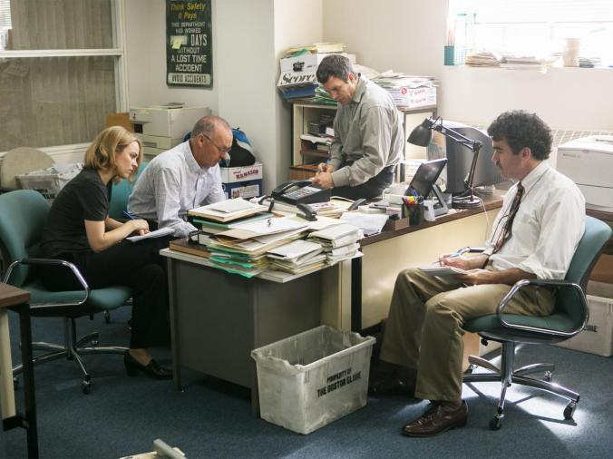 Spotlight starring Michael Keaton, Mark Ruffalo, and Rachel McAdams. Photo Credit: Kerry Hayes