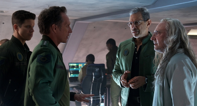 Independence Day: Resurgence starring Jeff Goldblum. Liam Hemsworth, Bill Pullman, Jessie Usher, and William Fichtner. Photo Credit: 20th Century Fox
