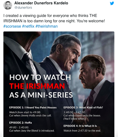 the irishman viewing guide